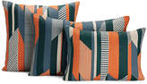 Design Within Reach Textured Stripe Pillow, Orange