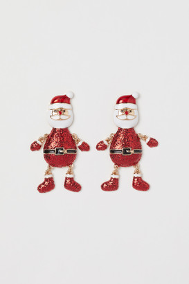 H&M Santa Earrings