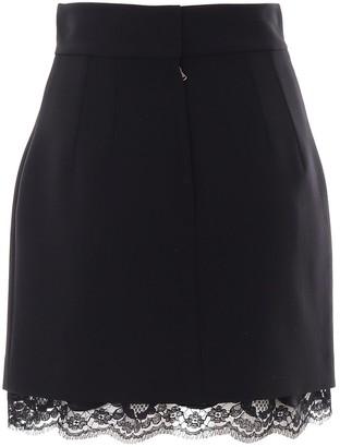 Dolce & Gabbana Lace Trim Mini Skirt
