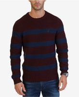Nautica Men's Breton Striped Crew-Neck Sweater