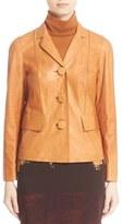 Lafayette 148 New York Women's 'Evia' Lambskin Leather Jacket