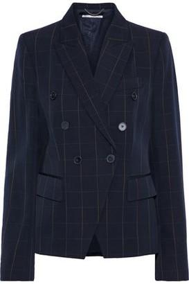 Stella McCartney Robin Double-breasted Checked Wool-twill Blazer