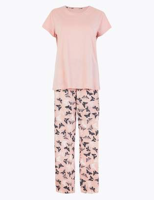 M&S CollectionMarks and Spencer Pure Cotton Butterfly Print Pyjama Set