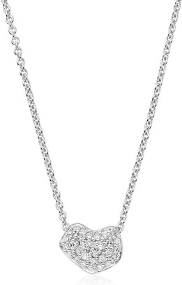 Monica Vinader Nura Mini Heart Diamond necklace