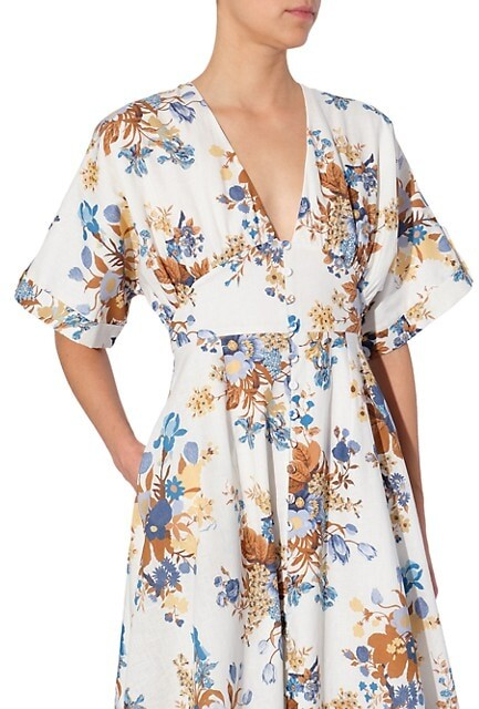 Thumbnail for your product : Erdem Vacation Ischia Floral-Print Midi Dress
