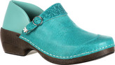 Women's 4EurSole Western Embellished Leather Clog RKYH033