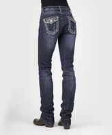Stetson Blue Rhinestone Embellished Stovepipe Jeans