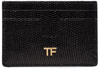 Tom Ford Lizard-Effect Card Holder