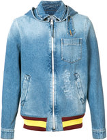 J.W.Anderson stonewashed denim jacket - men - Cotton - 46