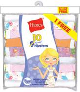 Hanes Girls` ComfortSoft 10-Pack No Ride Up Hipster, PAHPP9