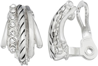 Dana Buchman Silver Tone J-Hoop Earrings