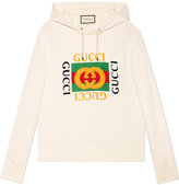 Gucci Print hooded sweatshirt - men - Cotton - XS