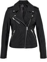 Hallhuber Leather biker jacket with zippers