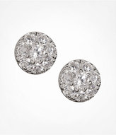 All Over Cubic Zirconia Circle Stud Earrings