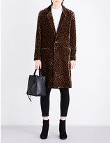 Vanessa Bruno Geneveo leopard-print velvet coat