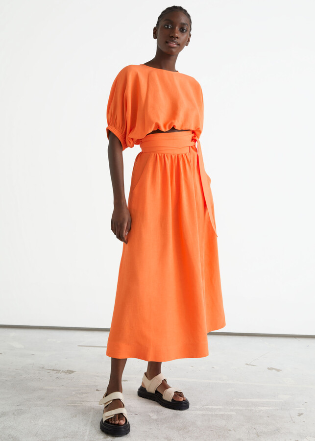 Thumbnail for your product : And other stories Belted Midi Wrap Skirt