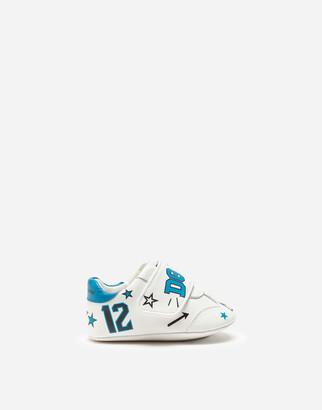 Dolce & Gabbana Lambskin Sneakers With Jungle Logo