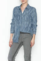 Tribal Denim Stripe Shirt
