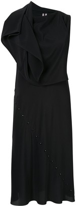 Rick Owens Ruffle Sleeveless Shift Dress