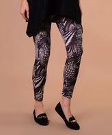 Black Geo-Swirl Leggings