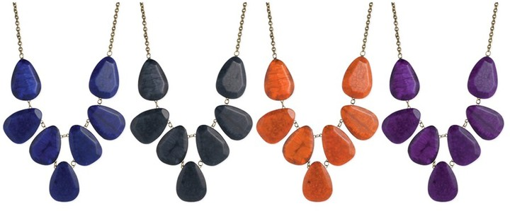Z Designs Resin Statement Necklace