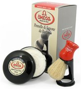 Spicy World of USA Omega 46065 Shaving Set with Brush, Holder, and Soap in Bowl