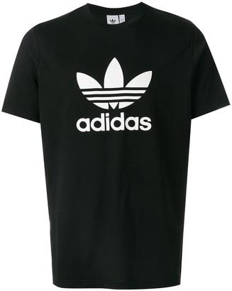 adidas Trefoil logo-print T-shirt