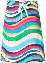 RED Valentino drawstring striped skirt - women - Cotton/Spandex/Elastane - 40