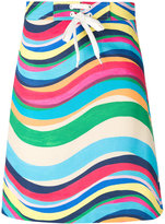 RED Valentino drawstring striped skirt - women - Cotton/Spandex/Elastane - 46