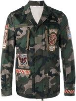 Valentino cigar-box appliqué camouflage field jacket