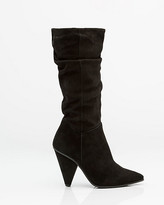 Le Château Italian-Made Ruched Suede Boot