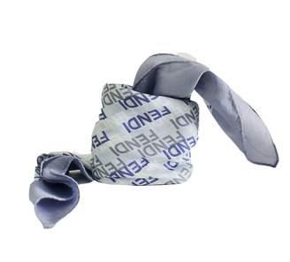 Fendi Blue Cotton Scarves
