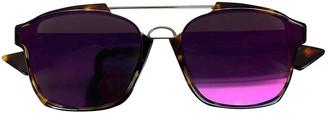 Christian Dior Abstract Purple Plastic Sunglasses