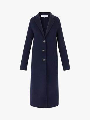 Gerard Darel Rosy Longline Wool Coat, Navy