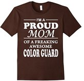 Women's Proud Mom Of Color Guard T-Shirt Gift Mother's Day XL