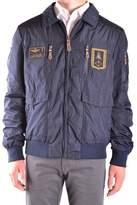 Aeronautica Militare Men's Blue Polyester Outerwear Jacket.