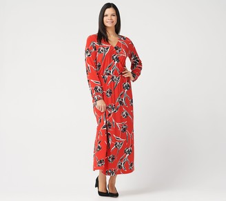 G.I.L.I. Got It Love It G.I.L.I. Regular Jetsetter Long-Sleeve Knit Maxi Dress