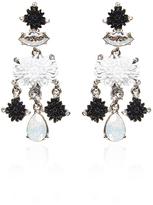 Oscar de la Renta Black Dahlia Earrings