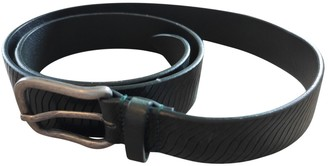 Emporio Armani Green Leather Belts