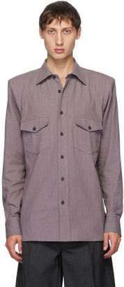 Dries Van Noten Purple Padded Ballroom Shirt