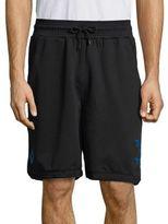 Marcelo Burlon County of Milan Mesh-Trim Drawstring Shorts
