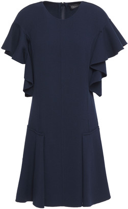 Oscar de la Renta Ruffled Wool-blend Crepe Mini Dress