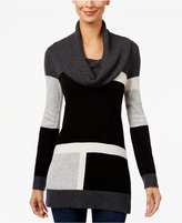 INC International Concepts Colorblocked Cowl-Neck Sweater, Only at Macy's