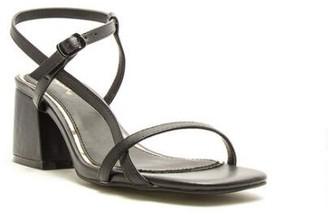 Qupid Katen Asymmetrical Block Heel - Black