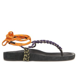 Isabel Marant Loreco Rope Sandals - Navy Multi