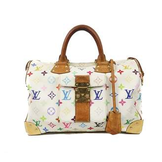 Louis Vuitton Speedy White Cloth Handbag
