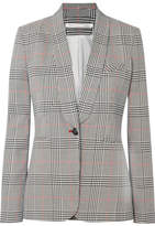 Veronica Beard Eva Checked Crepe Blazer - Gray