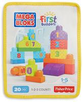 Mega Bloks First Builders 20-Piece 1-2-3 Count Blocks Set