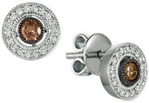 LeVian Le Vian Chocolatier® Diamond Halo Stud Earrings (3/8 ct. t.w.) in 14k White Gold