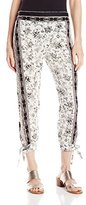 O'Neill Juniors Tucker Printed Floral Woven Soft Pant